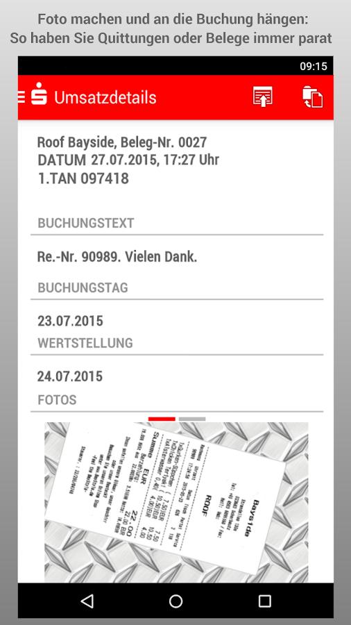 Sparkasse- screenshot