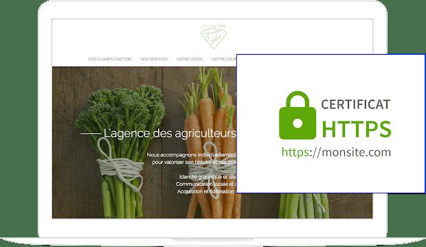 Création site https