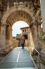 Photo: Sarjita invites to enter through Hadrian's Gate