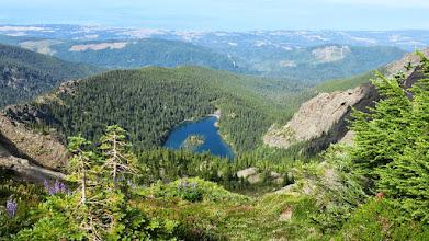 Photo: We were heading this lake below.