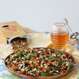 Lentil Salad with Sweet Potato, Granola & Honey Vinaigrette