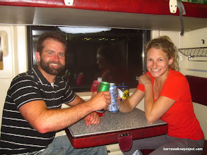 Photo: Well, we made it on the train for our first trip on the Transiberian Railroad (33hrs from Moscow to Kamislov)
