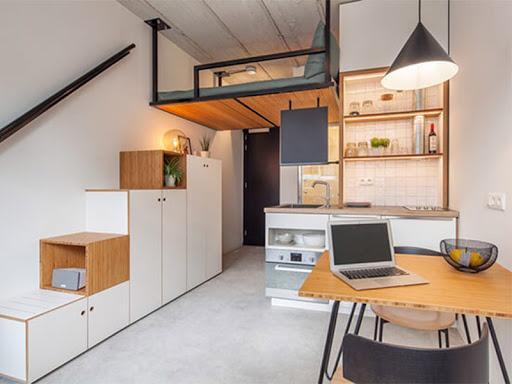 Giúp tiết kiệm không gian tối đa, phù hợp cho nhà nhỏ