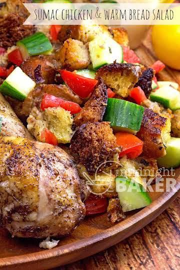 Moroccan (Sumac) Chicken & Warm Bread Salad - The Midnight Baker