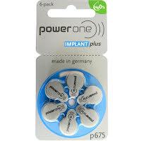 675 6-Pack Implant Plus Varta PowerOne P675 CI - Hörapparatsbatterier