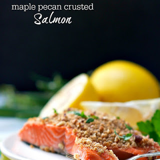 Maple Pecan Crusted Salmon
