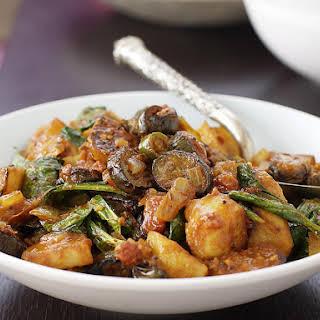Eggplant and Potato Curry.
