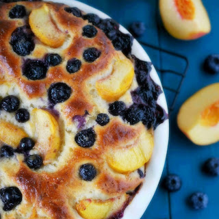 Blueberry Peach Custard Kuchen