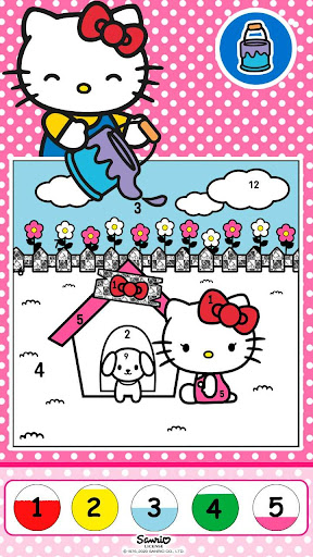 Color by Number with Hello Kitty apktram screenshots 2