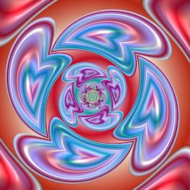 by Cassy 67 - Illustration Abstract & Patterns ( love, abstract, hearts, heart, digital art, harmony, circle, fractal, digital, fractals )