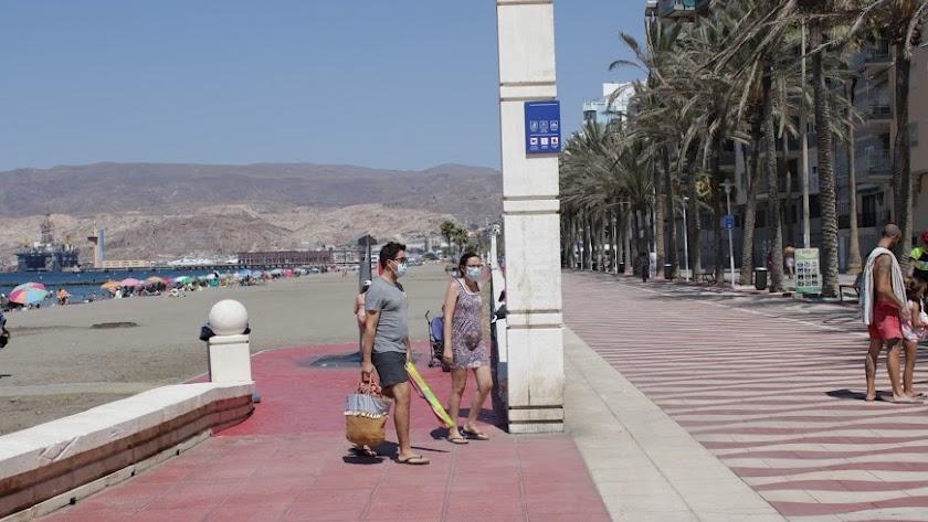 El Paseo Marítimo de Almería este miércoles.