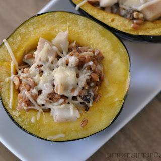 Pear and Walnut Stuffed Acorn Squash