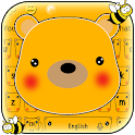 Cuteness Kawaii Yellow Pooh Bear Keyboard icon