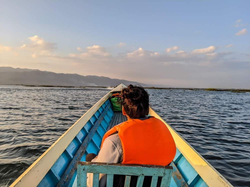 sailing through inle lake myanmar