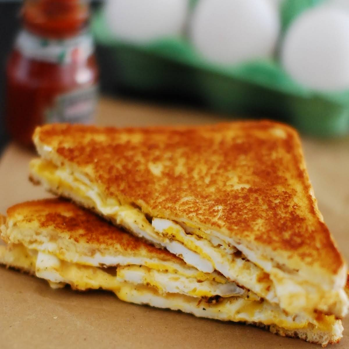 Grilled Egg and Cheese Sandwich
