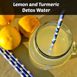 Lemon Turmeric Detox Water.