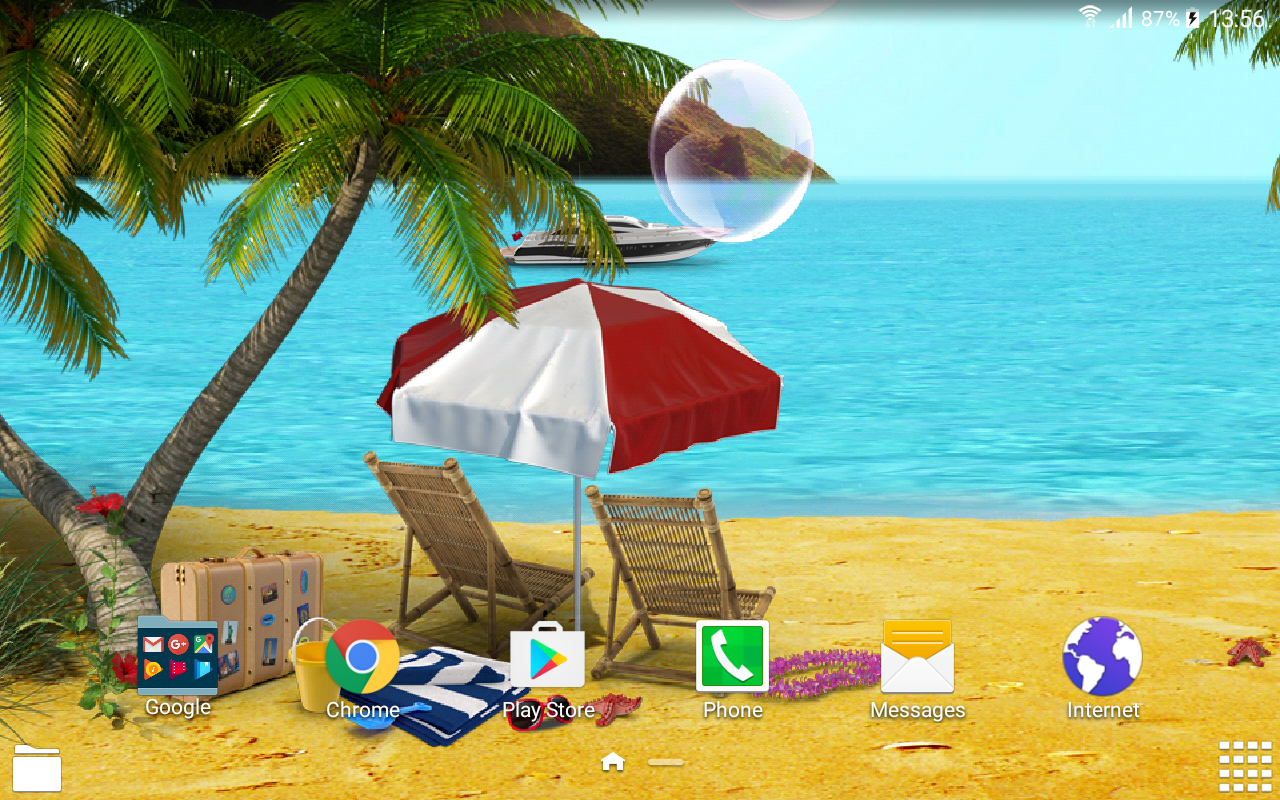 Paradise Live Wallpaper- screenshot