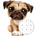 Unicorn Pug - Color By Number & Pixel No Draw download