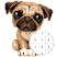 Unicorn Pug - Color By Number & Pixel No Draw