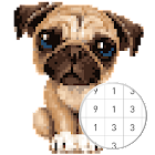 Unicorn Pug - Color By Number & Pixel No Draw icon