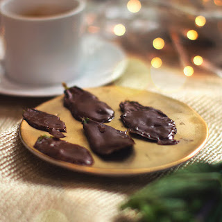 Chocolate Mint Leaves.