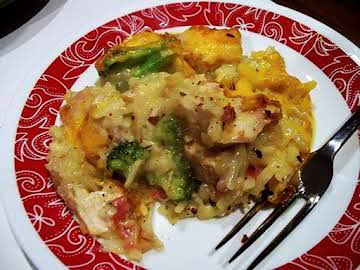 Cheesy Broccoli  - Hashbrown - Chicken Casserole