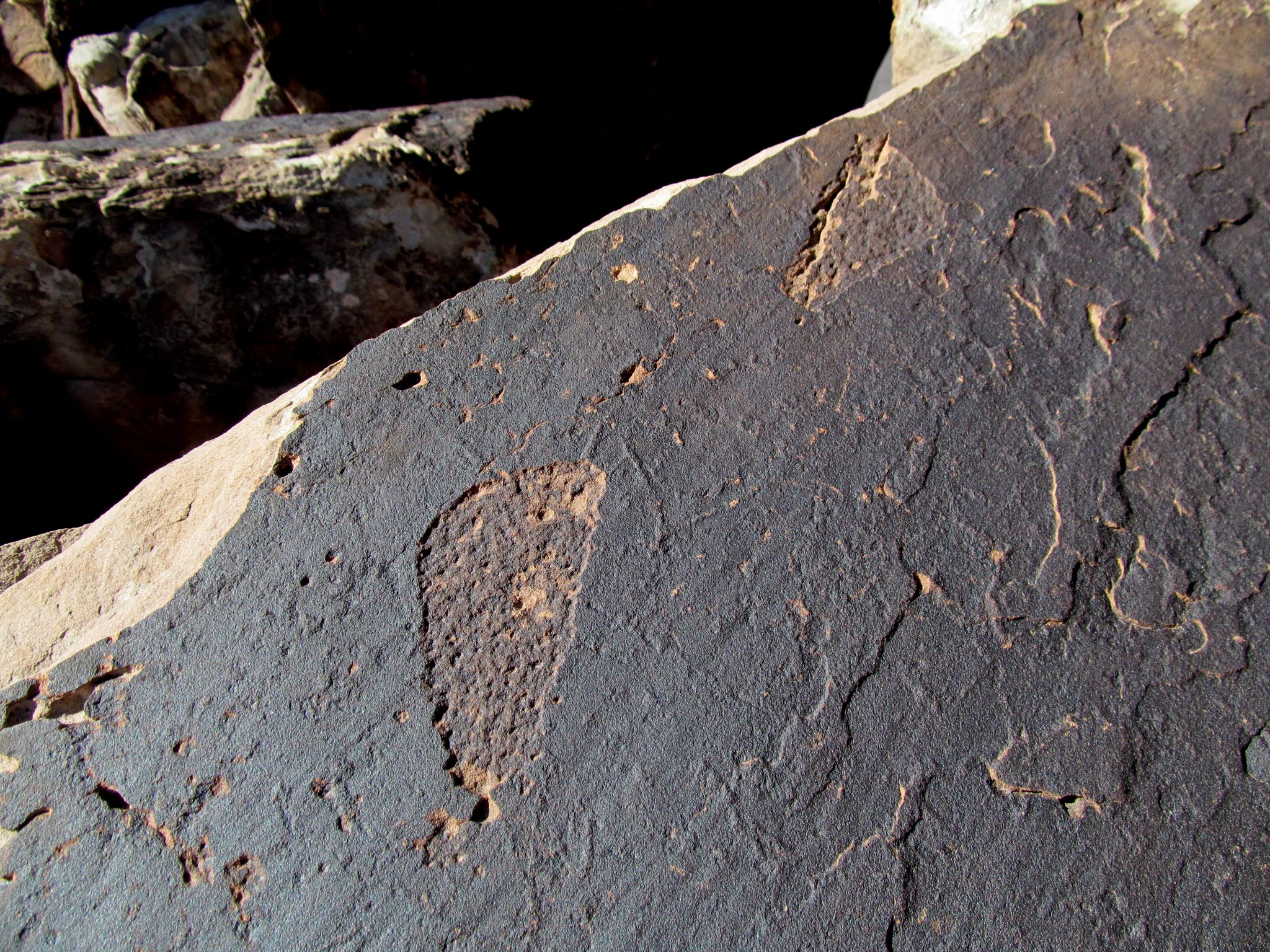 Photo: Footprint petroglyphs