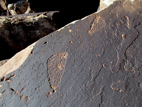 Photo: Footprint petroglyphs