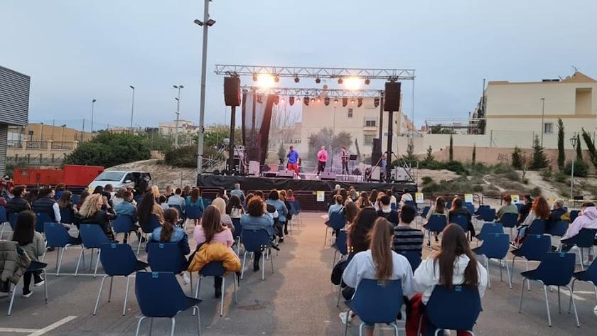 Lérica en el primer concierto de las fiestas patronales.