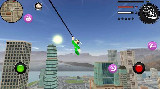 PC u7528 Green Stickman Rope Hero Gangstar Crime 2