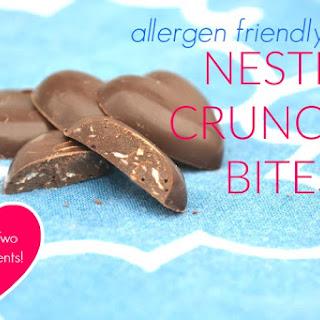 Two Ingredient Allergen Friendly Nestle Crunch® Bites.