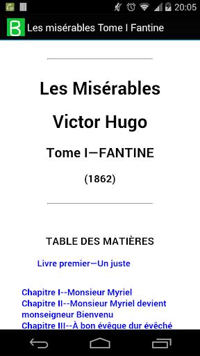 Les misérables Tome I; Fantine