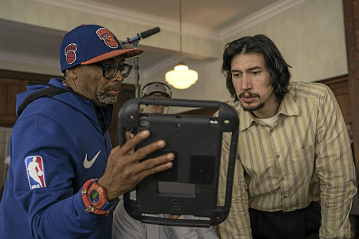 Director Spike Lee and Adam Driver, who plays cop Flip Zimmerman in 'BlacKkKlansman'.
