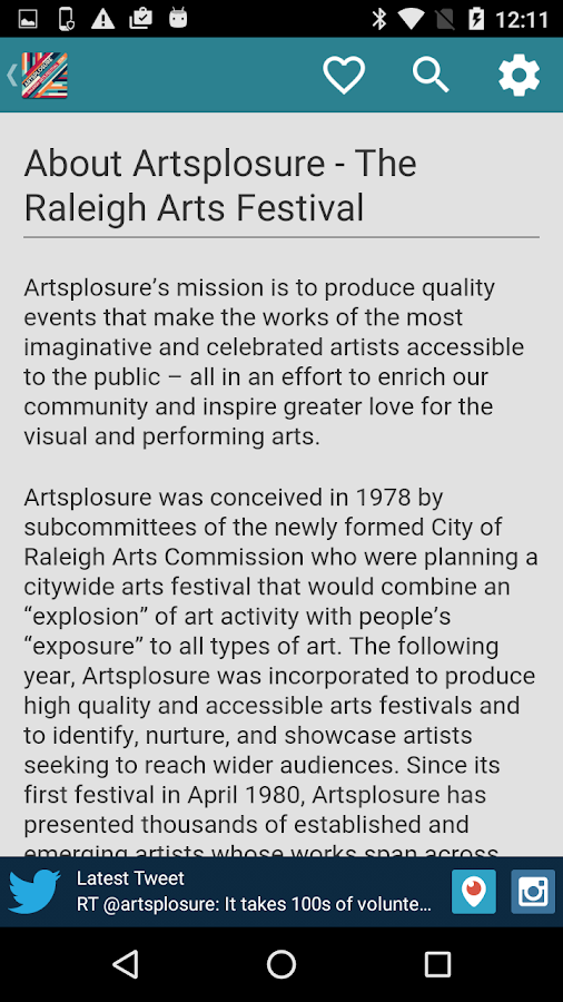 Artsplosure 2016- screenshot
