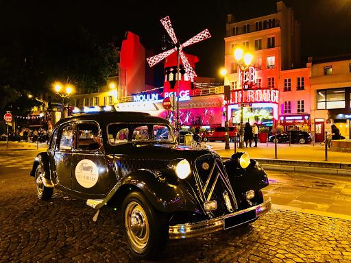 Visiter Montmartre en voiture a Paris, la nuit, le jour