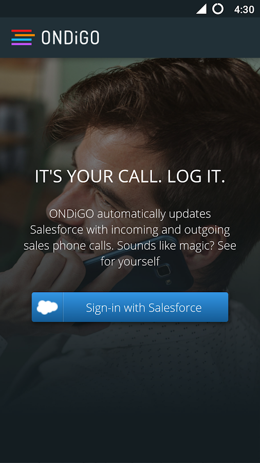 ONDiGO Salesforce Call Logger- screenshot