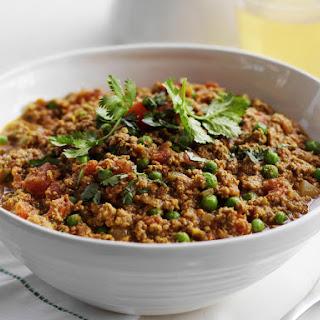 Lamb Keema with Green Chili and Tomato.