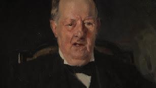 Detalle del retrato, obra de Joaquín Sorolla, que puede verse hasta el 30 de septiembre en Olula del Río.