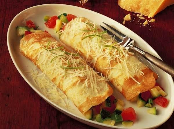 Cheesy Veggie Crepes Recipe