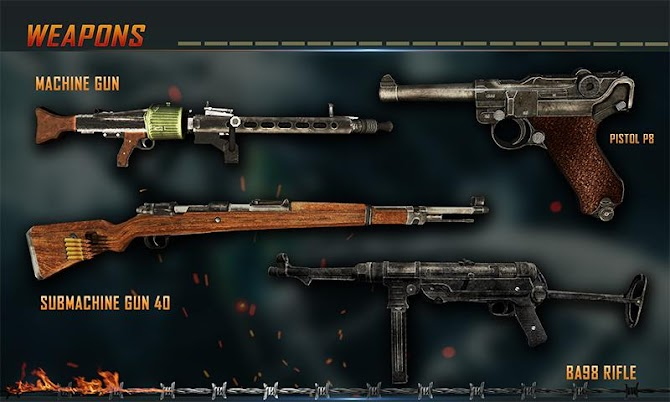 WW2 Survival War Prisoner : FPS Shooting Game Android 5