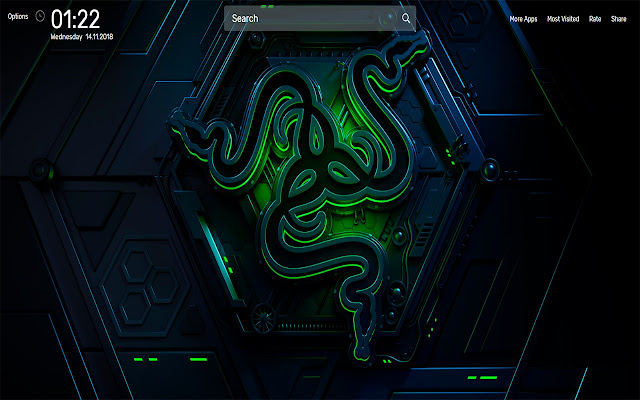 Razer Wallpapers NewTab Theme
