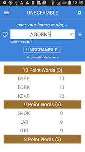 Unscramble Letters- screenshot thumbnail