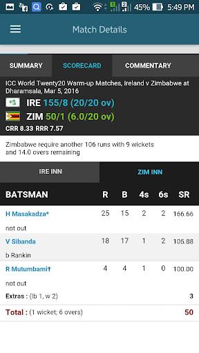 Live Cricket 24/7 4.1 screenshots 5