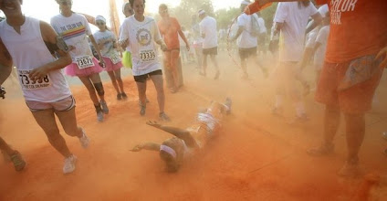 Photo: Some people couldn't seem to get enough color. Photo courtesy of the Courier-Journal