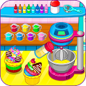 Cooking rainbow cupcakes icon
