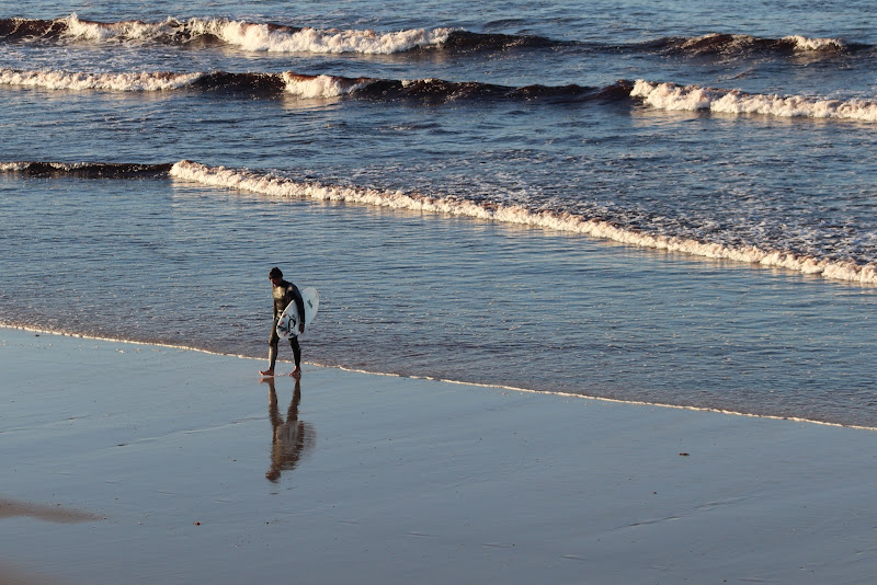 Lui ed il mare di rip