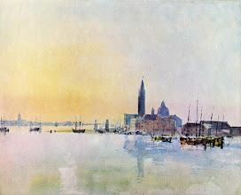 """Photo: William Turner, """"San Giorgio visto dalla dogana al sorgere del sole"""" (1819)"""