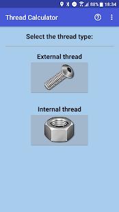 Thread calculator - náhled