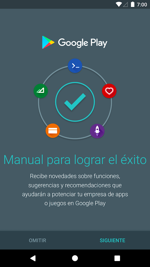 Playbook for Developers - Crea una app exitosa: captura de pantalla