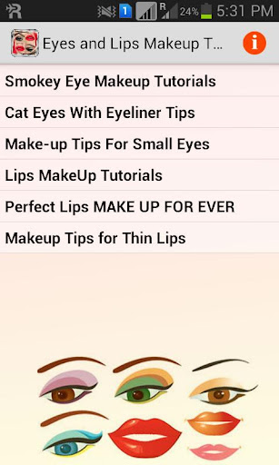 Eyes and Lips Makeup Tutorials